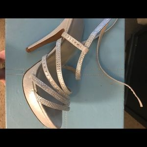 Silver Aldo wedding shoes